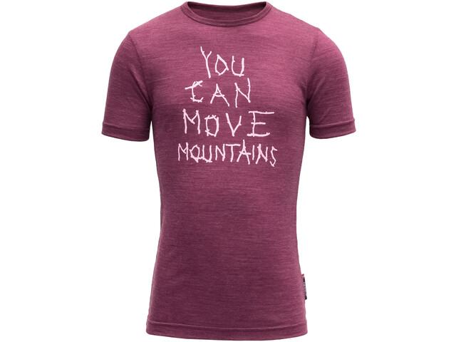 Devold Moving Mountain T-paita Lapset, plum